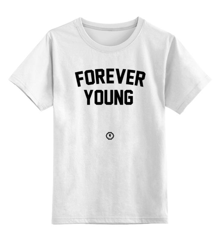 Детская футболка классическая унисекс Printio Forever young by brainy