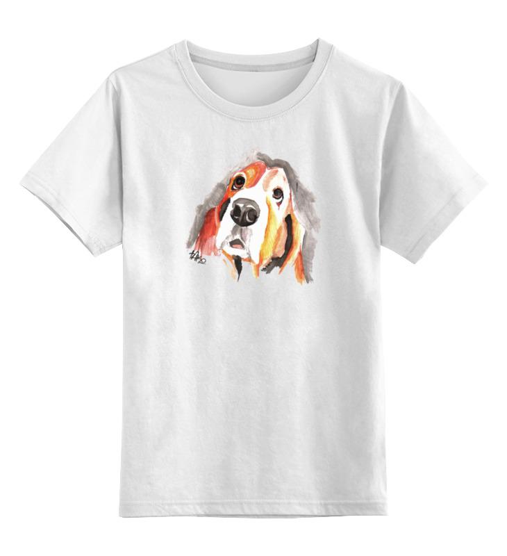 Детская футболка классическая унисекс Printio Футболка с собачкой футболка hollister артикул 612220127