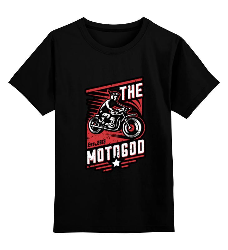 Детская футболка классическая унисекс Printio The motogod цена