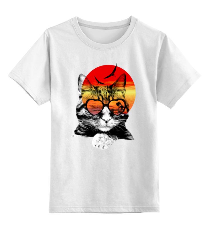Детская футболка классическая унисекс Printio Солнечный кот детская футболка классическая унисекс printio абстрактный кот