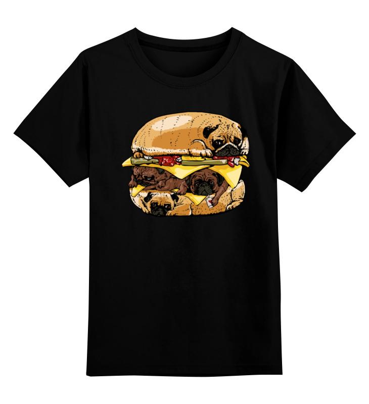 Детская футболка классическая унисекс Printio Мопс бургер футболка рингер printio мопс бургер