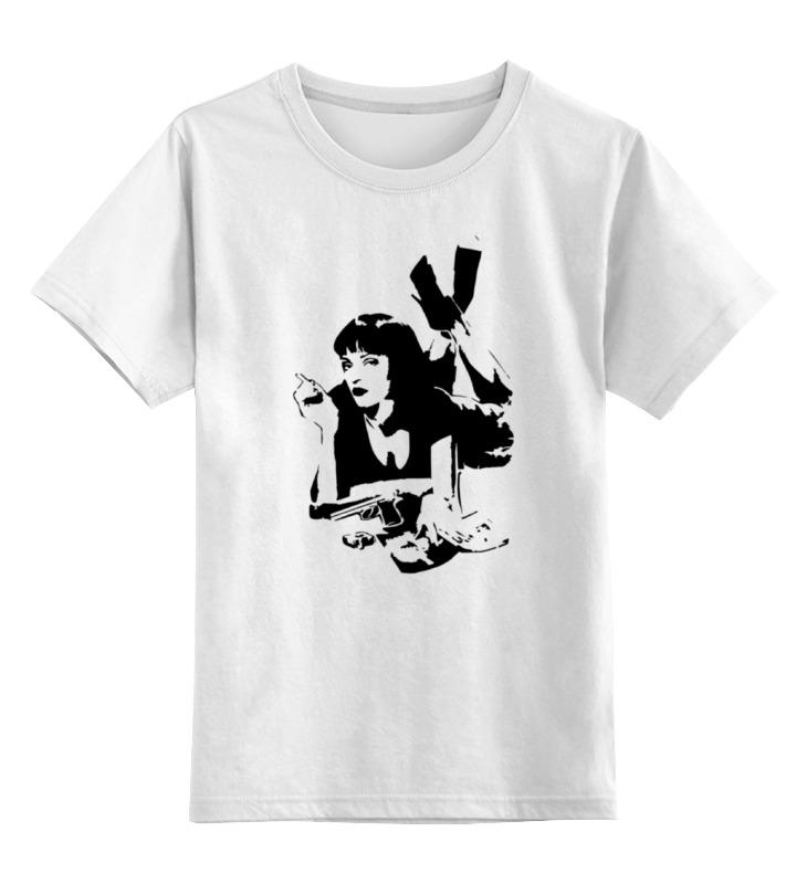 Детская футболка классическая унисекс Printio «криминальное чтиво» (pulp fiction)
