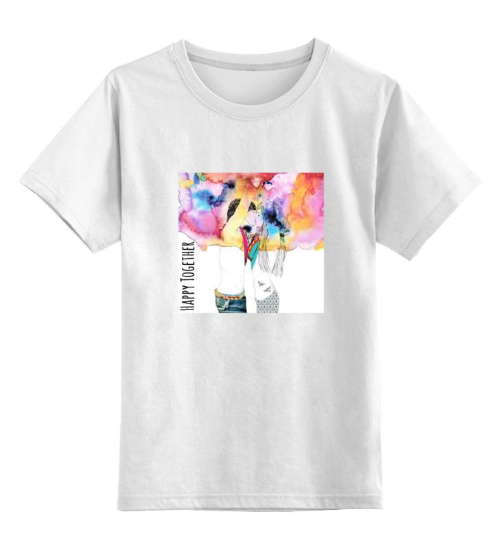 Детская футболка классическая унисекс Printio Happy together майка классическая printio happy together