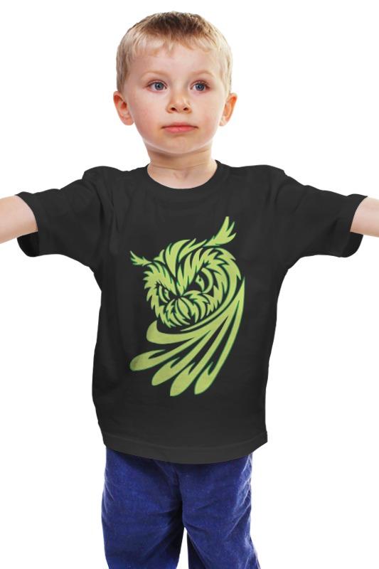 Детская футболка классическая унисекс Printio Филин