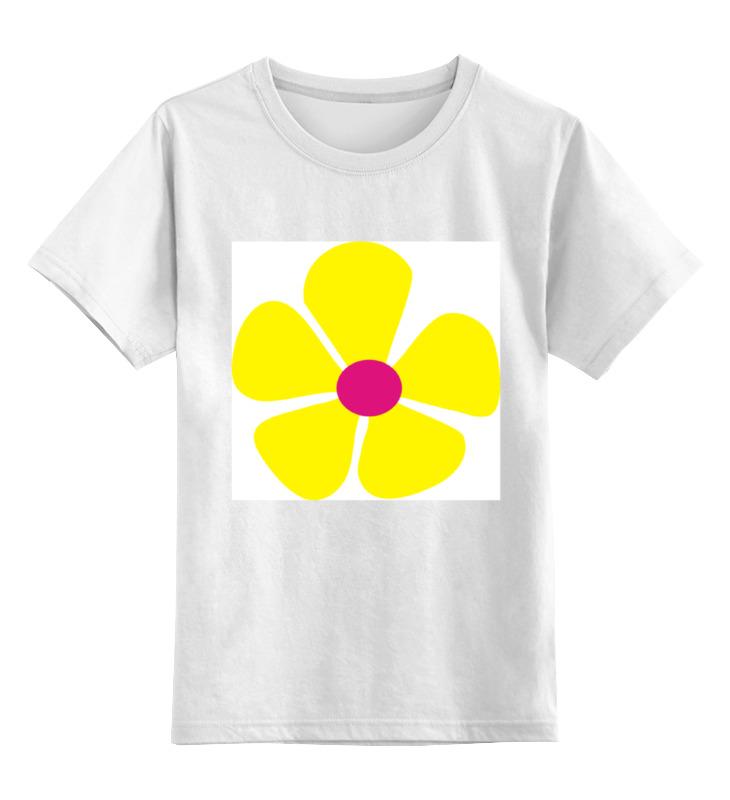 Детская футболка классическая унисекс Printio Жнлтый цветок детская футболка классическая унисекс printio мачете