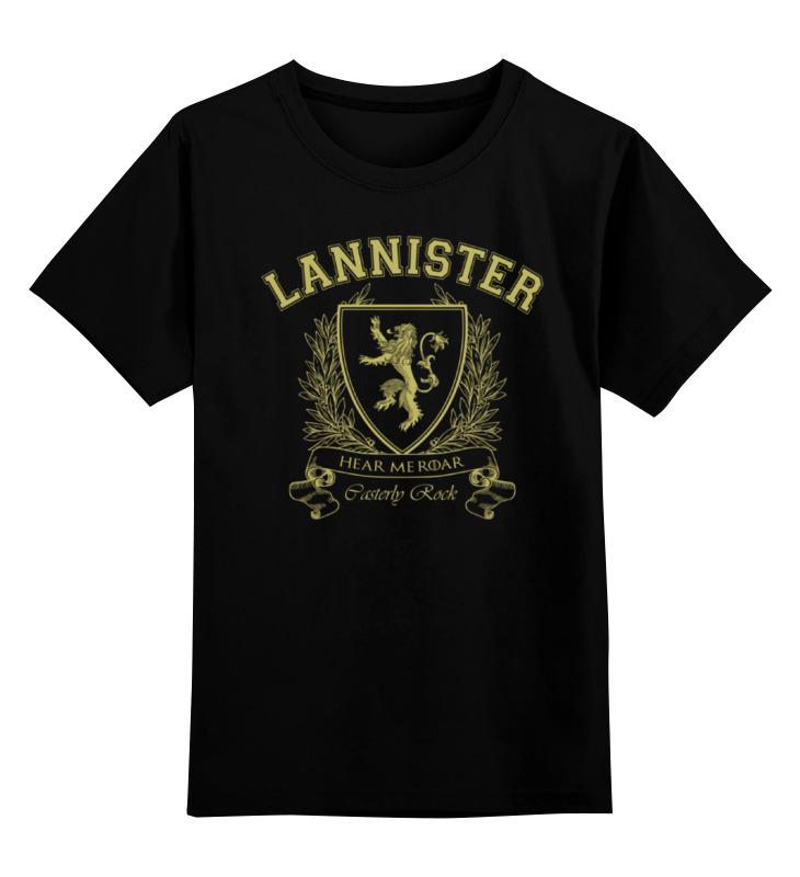 Детская футболка классическая унисекс Printio Дом ланнистеров. игра престолов футболка классическая printio ланнистеры