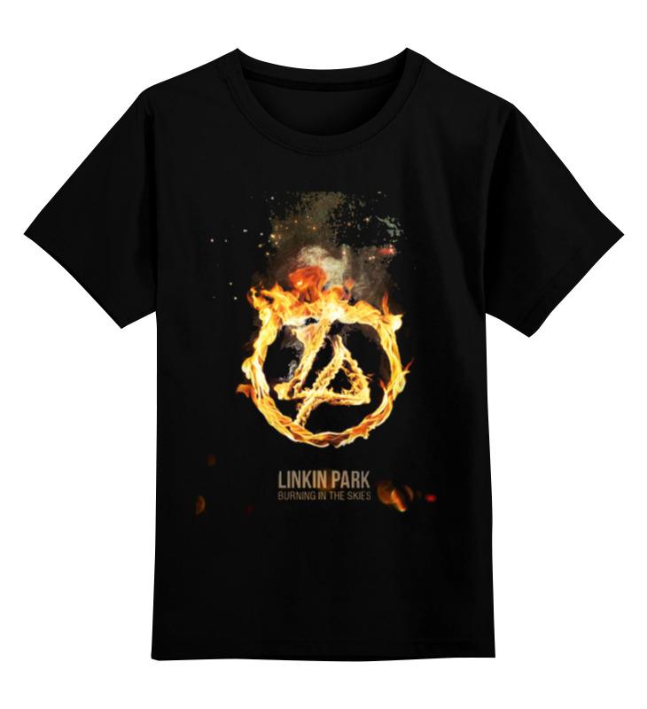 Детская футболка классическая унисекс Printio Linkin park - burning in the skies майка классическая printio linkin park burning in the skies