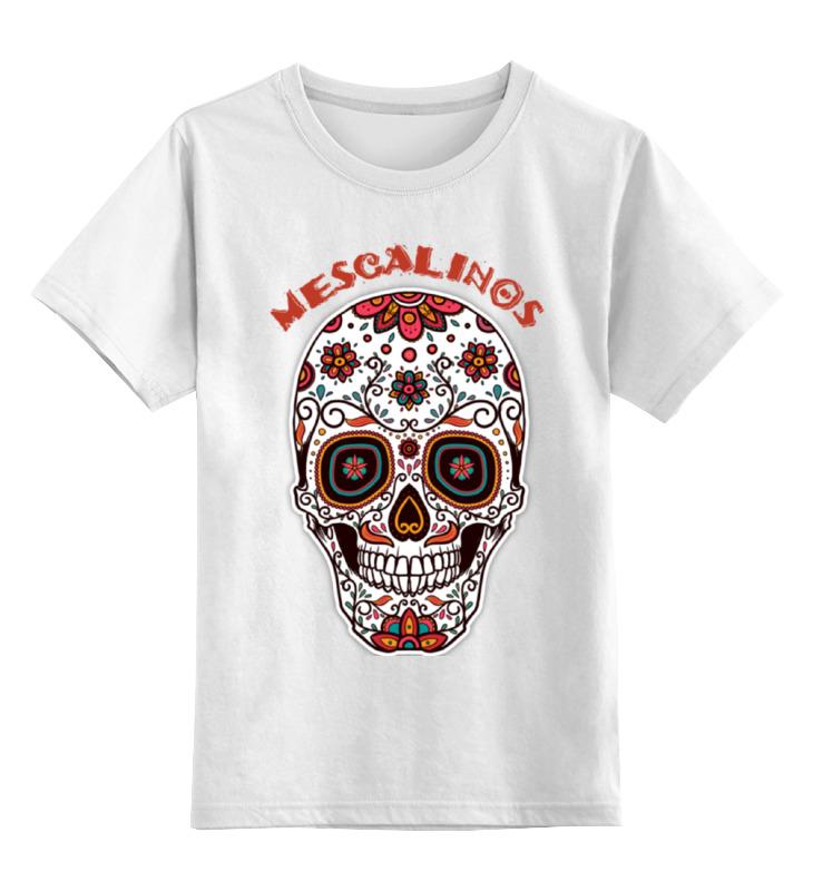 Детская футболка классическая унисекс Printio Череп mescalinos детская футболка классическая унисекс printio череп жостово
