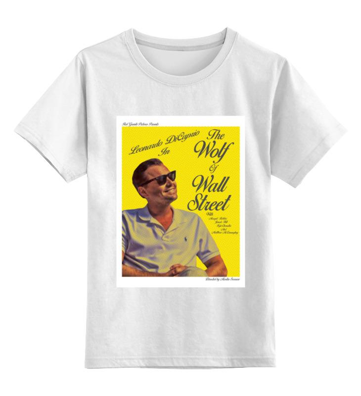 Детская футболка классическая унисекс Printio Волк с уолл-стрит / the wolf of wall street цены онлайн