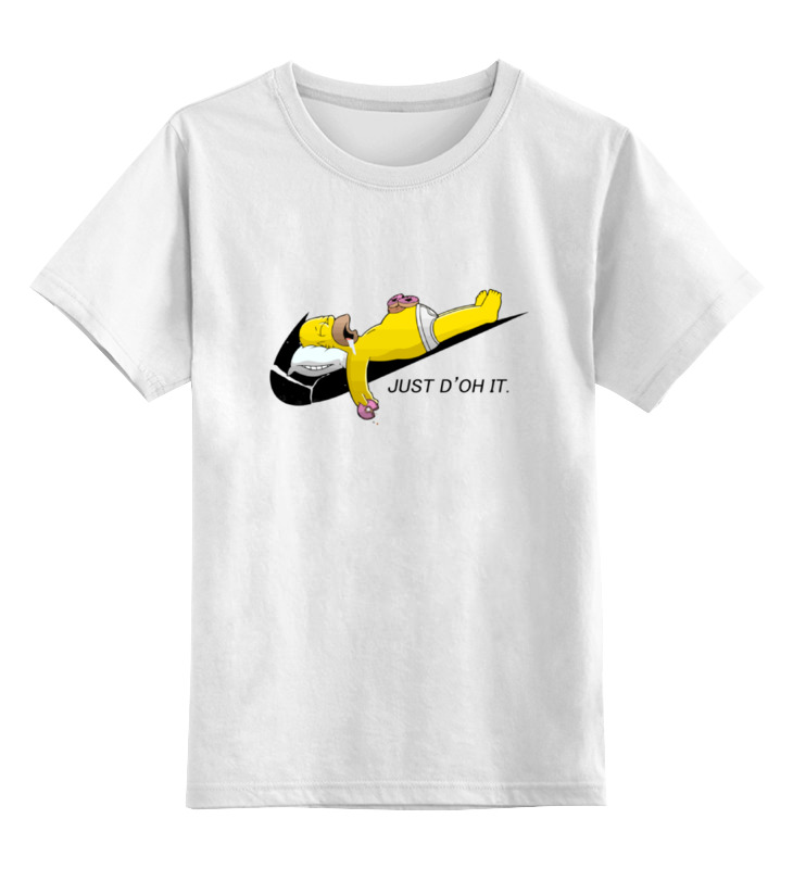 Детская футболка классическая унисекс Printio Гомер симпсон (just d'oh it) лонгслив printio just