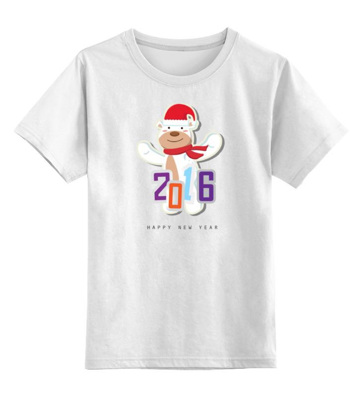 Детская футболка классическая унисекс Printio Мишка с севера