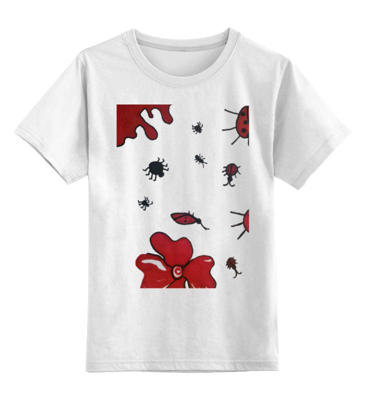 Детская футболка классическая унисекс Printio Божьи коровки в бегах настольная игра веселые гонки и божьи коровки