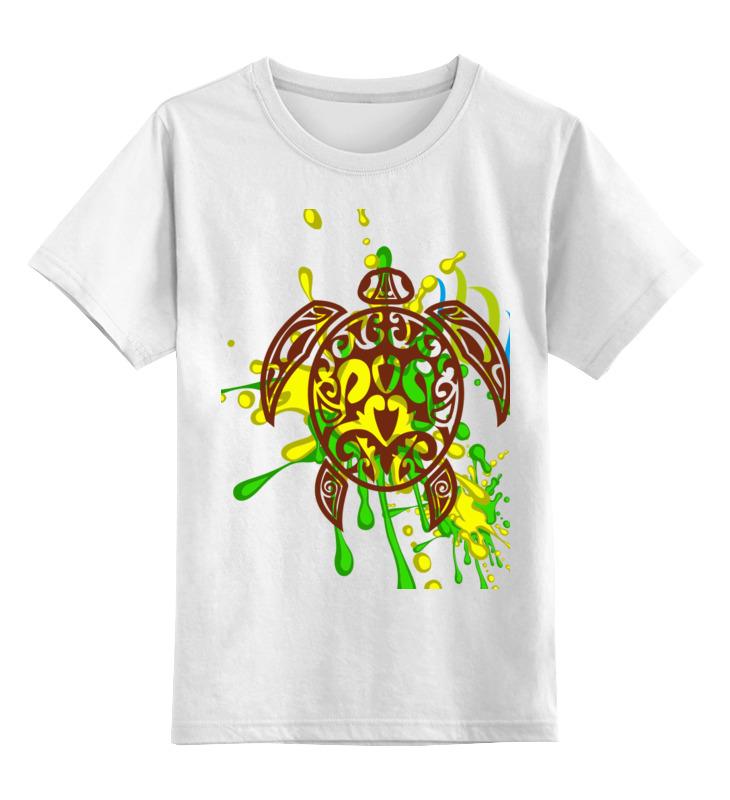 Детская футболка классическая унисекс Printio Морская черепашка 212356 блузка детская barkito морская принцесса голубая
