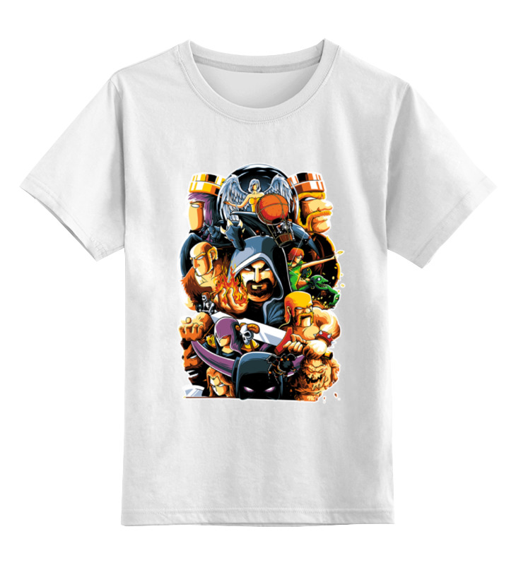 Детская футболка классическая унисекс Printio Clash of clans картина clash of clans