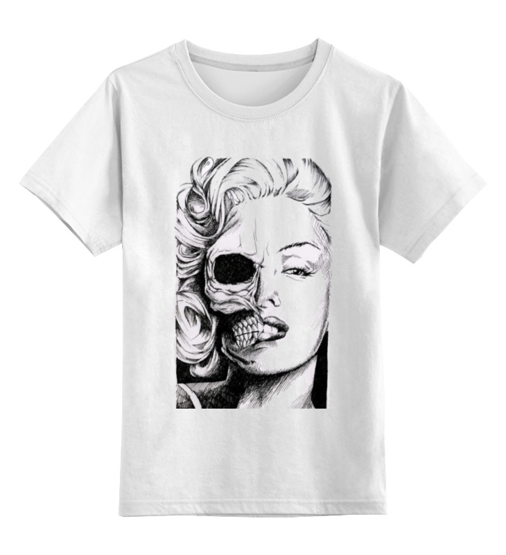 Детская футболка классическая унисекс Printio Красотка мерилин цена