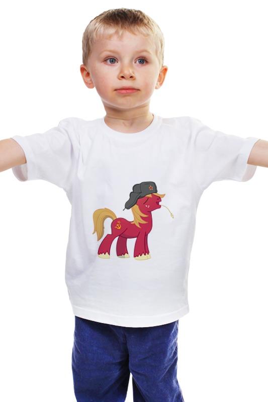 Детская футболка классическая унисекс Printio My little pony: русский понь