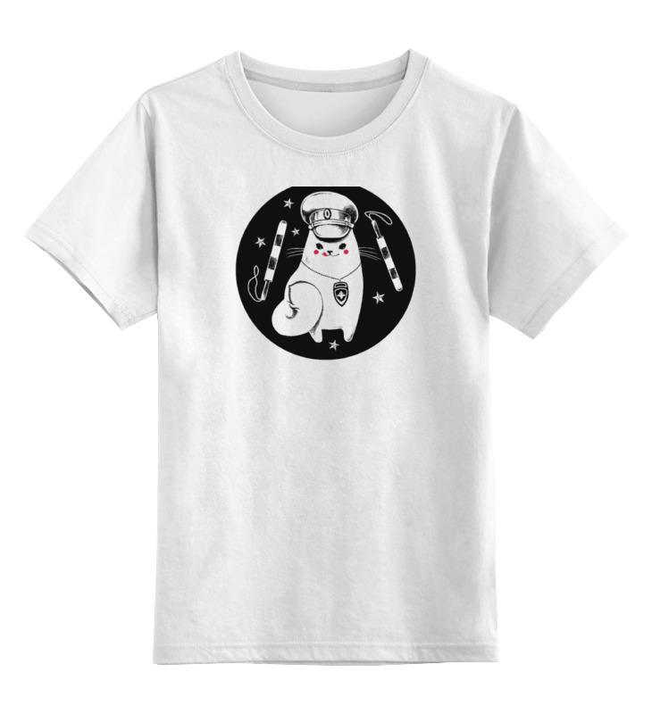 Детская футболка классическая унисекс Printio Кот из гаи без прописки справку в гаи