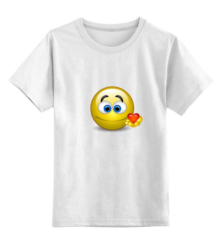 Детская футболка классическая унисекс Printio smiley футболка рингер printio smiley