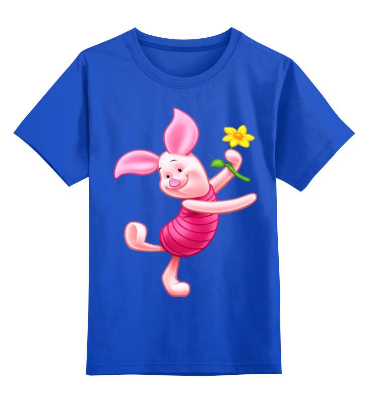 Детская футболка классическая унисекс Printio Любимый танцующий -пятачок. цветочок лонгслив printio любимый танцующий пятачок цветочок