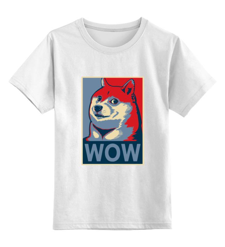 Детская футболка классическая унисекс Printio Wow doge футболка print bar wow