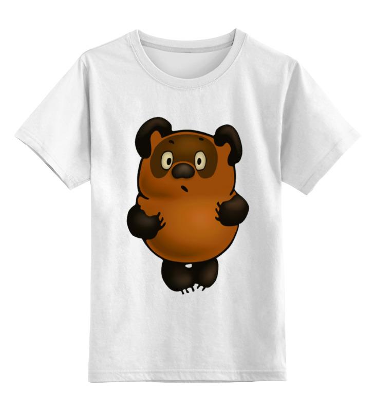 Детская футболка классическая унисекс Printio Винни-пух умка лесные обитатели с винни пухом