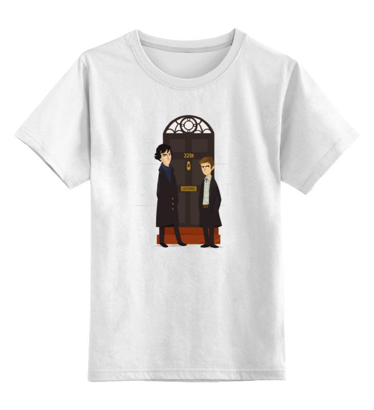 Детская футболка классическая унисекс Printio Шерлок холмс (sherlock holmes) футболка для беременных printio шерлок холмс sherlock holmes