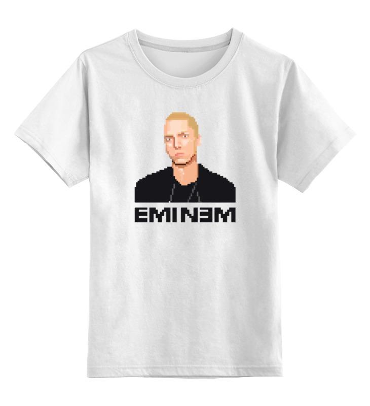 Детская футболка классическая унисекс Printio Эминем