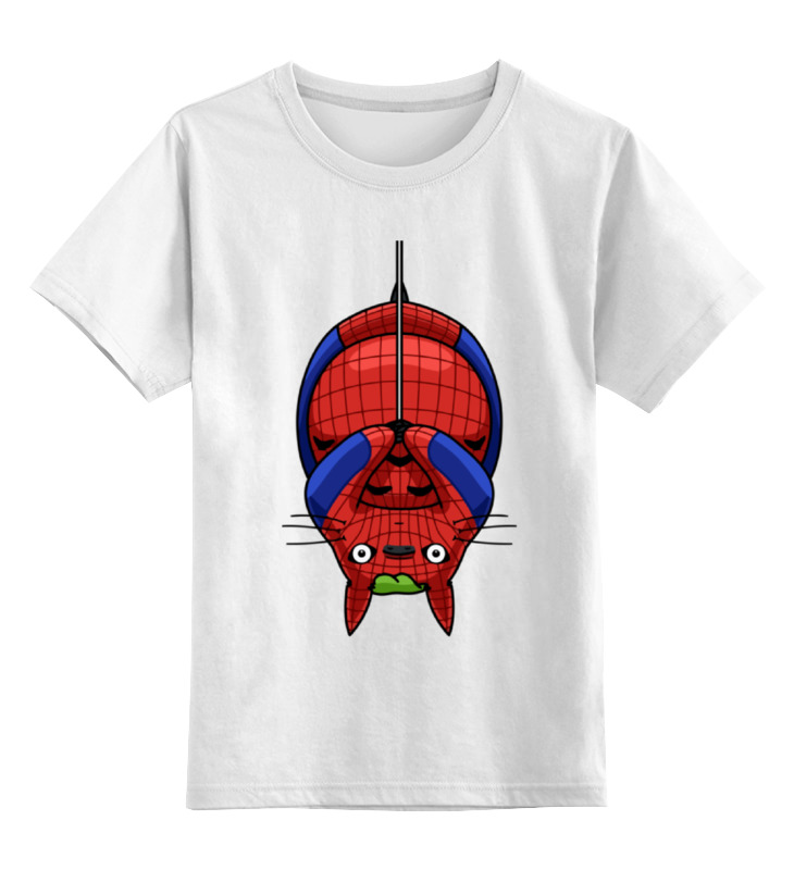 Детская футболка классическая унисекс Printio Кот (человек паук) stor кружка детская великий человек паук 325 мл