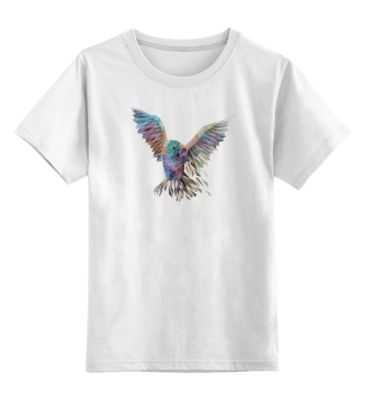 Детская футболка классическая унисекс Printio Геометрическая сова цена и фото