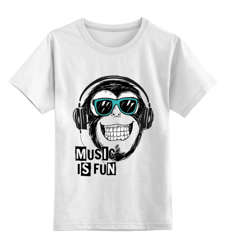 Детская футболка классическая унисекс Printio Music is fun fun is not expensive аксессуар для техники