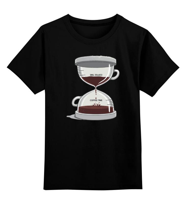 Детская футболка классическая унисекс Printio Coffee time / время кофе creative coffee time wall mounted clock blue 1 x aa
