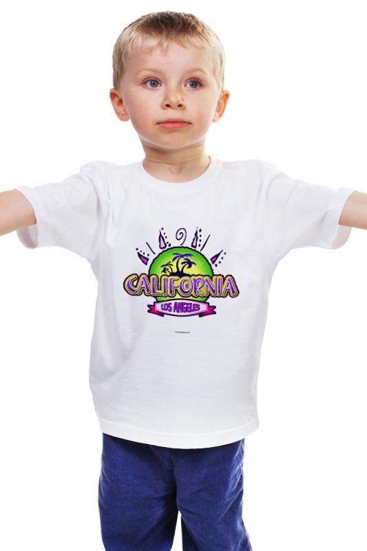 Детская футболка классическая унисекс Printio Калифорния