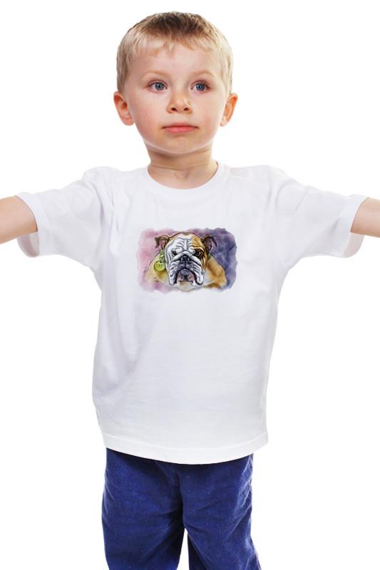 Детская футболка классическая унисекс Printio Бульдог детская футболка классическая унисекс printio мачете
