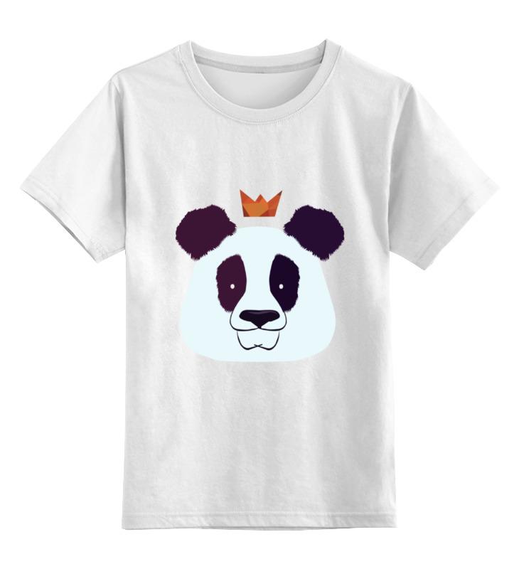 Детская футболка классическая унисекс Printio Король панда