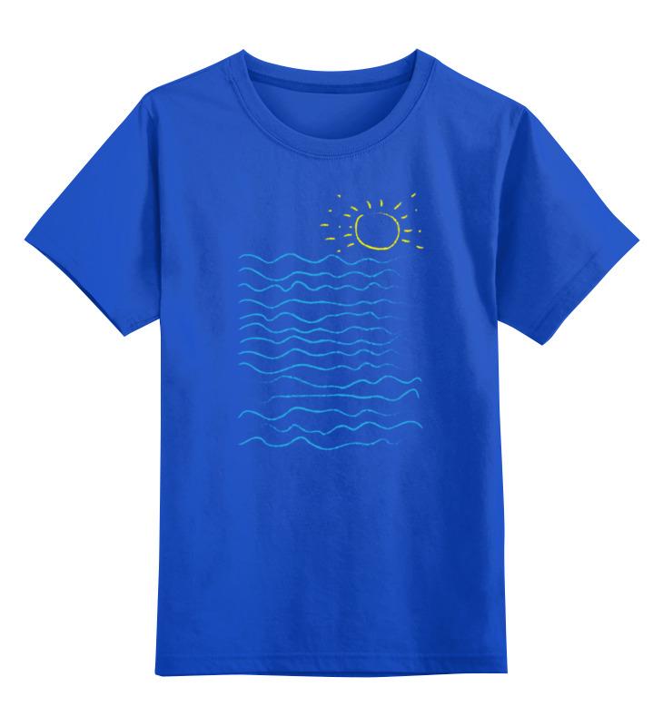 Детская футболка классическая унисекс Printio Море и солнце футболка классическая printio оранжевое солнце