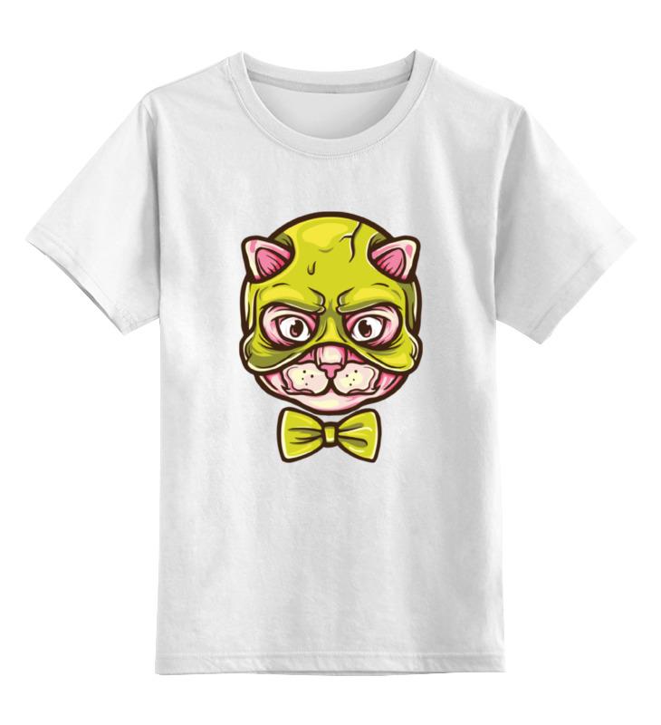 Детская футболка классическая унисекс Printio Кот с бабочкой сумка printio кот с бабочкой