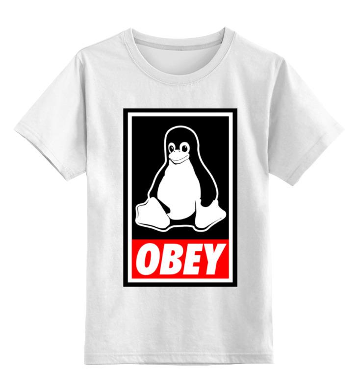 Детская футболка классическая унисекс Printio Linux (obey) детская футболка классическая унисекс printio starbucks obey