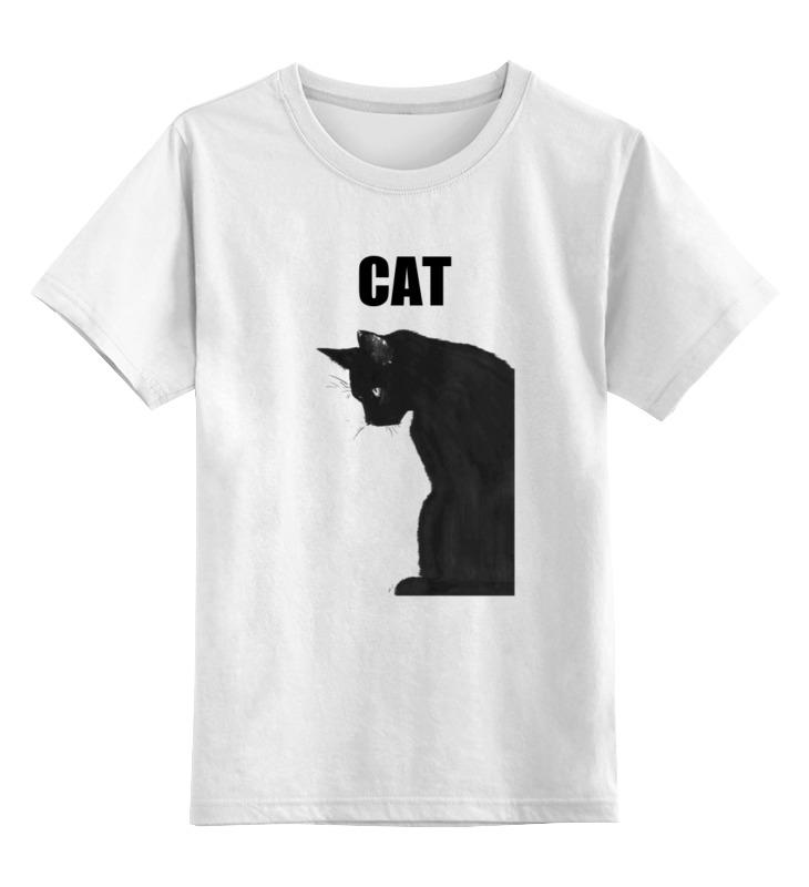 Детская футболка классическая унисекс Printio Чёрный кот