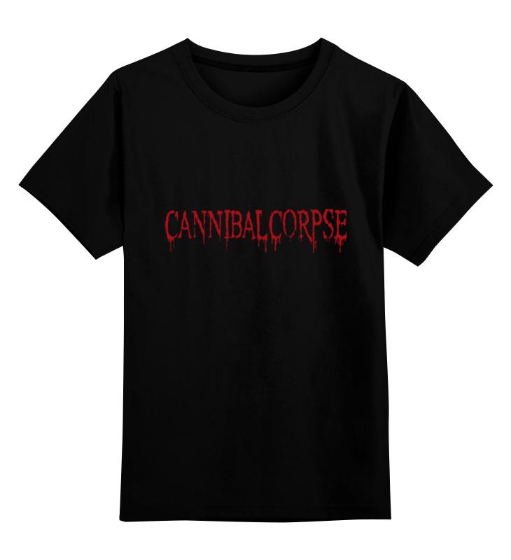 Детская футболка классическая унисекс Printio Cannibal corpse logo