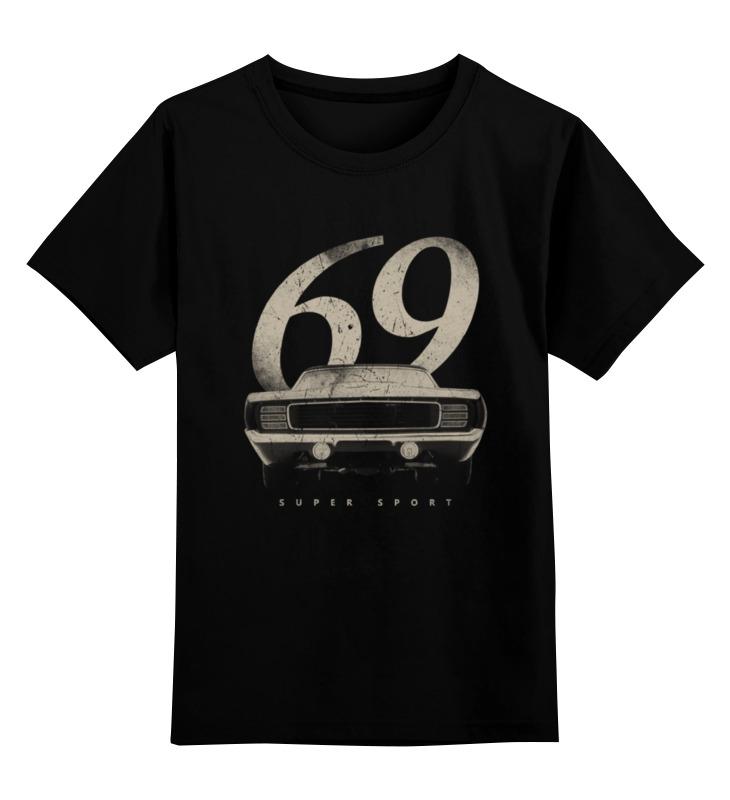 Детская футболка классическая унисекс Printio Шевролет камаро 1969 - american muscle car купить шевролет колорадо авто ру