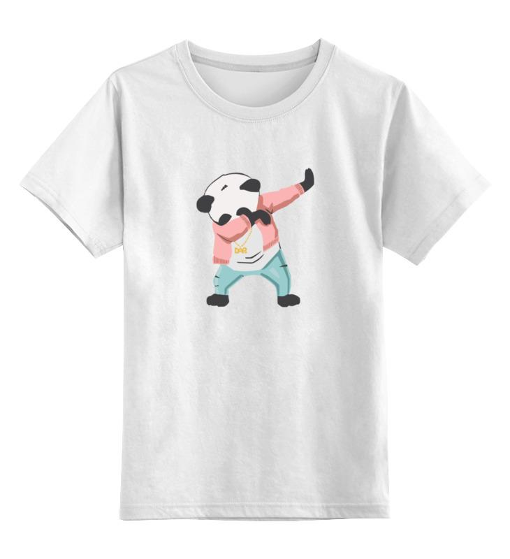 Детская футболка классическая унисекс Printio Панда даб футболка классическая printio вабба лабба даб даб рик и морти