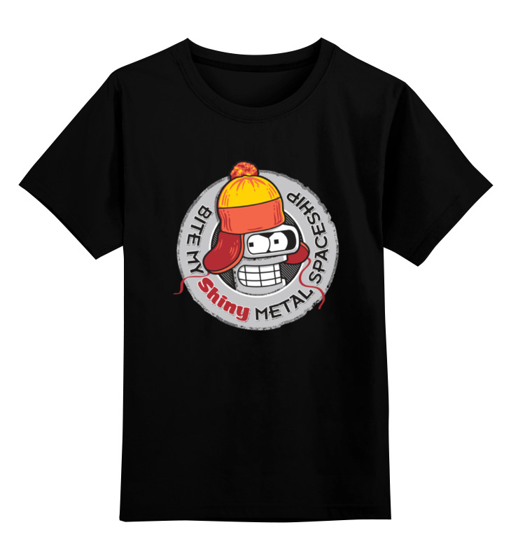 Детская футболка классическая унисекс Printio Bite my spaceship
