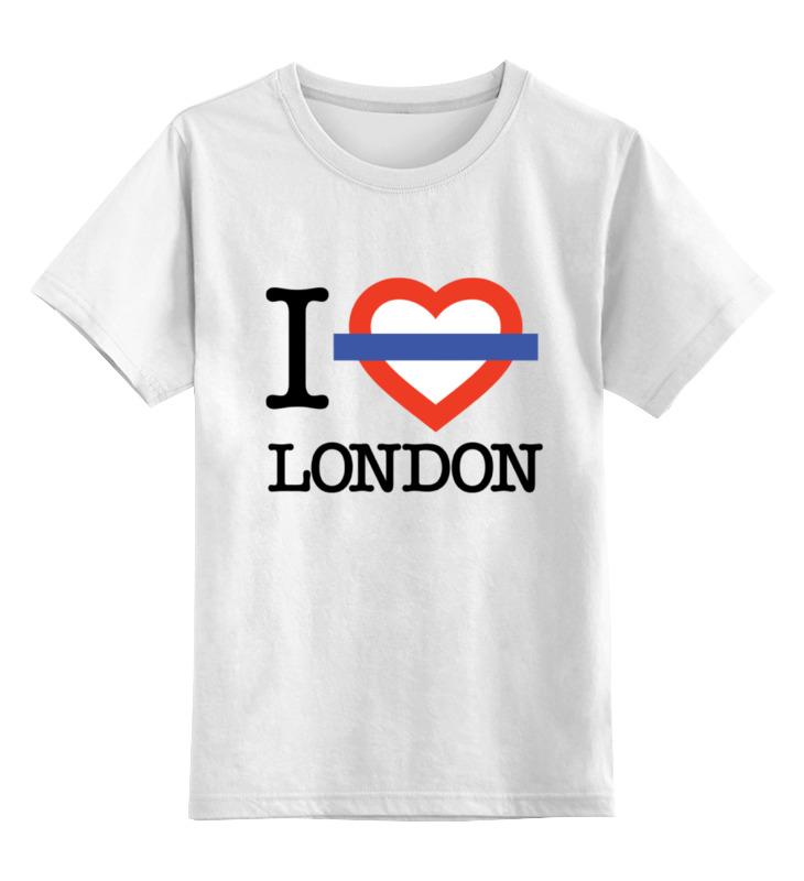 Детская футболка классическая унисекс Printio Люблю лондон сейф я люблю лондон