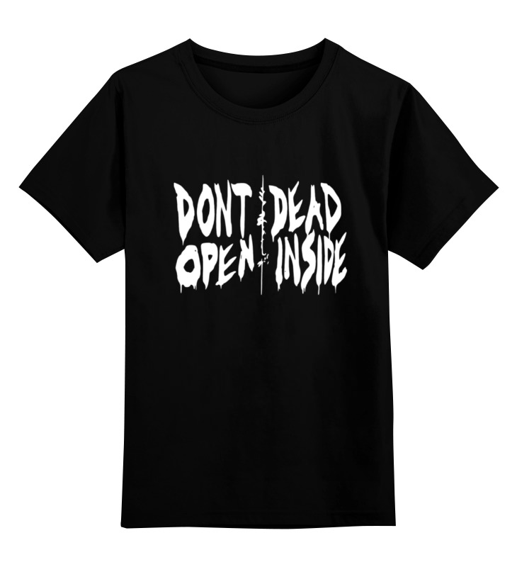 Детская футболка классическая унисекс Printio Don't open dead inside dead inside volume 1