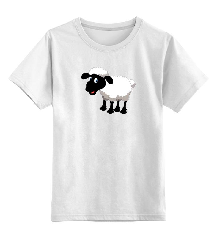 Детская футболка классическая унисекс Printio Белая овечка