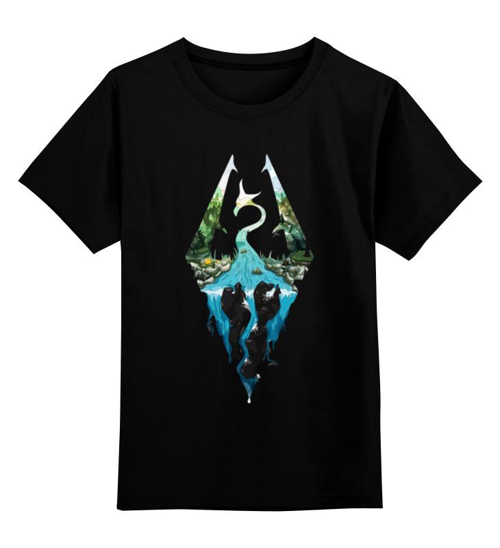 Детская футболка классическая унисекс Printio Skyrim как землю в морфале в скайриме