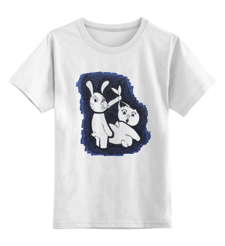 Детская футболка классическая унисекс Printio Жизнь кроликов