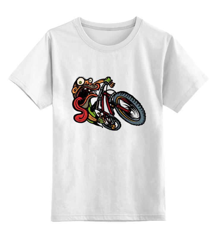 все цены на Детская футболка классическая унисекс Printio Зомби на велосипеде онлайн