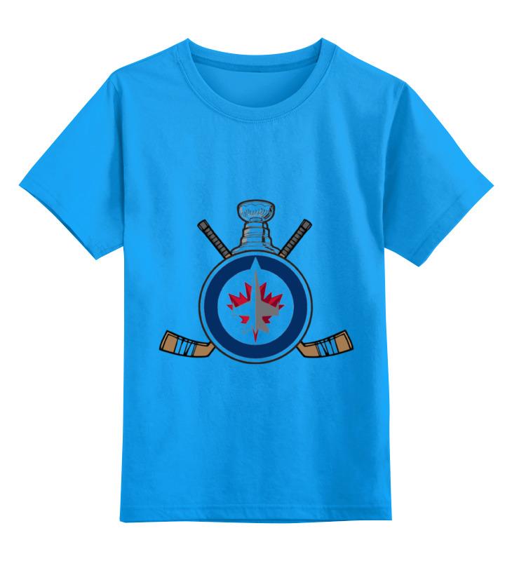 Детская футболка классическая унисекс Printio Виннипег джетс