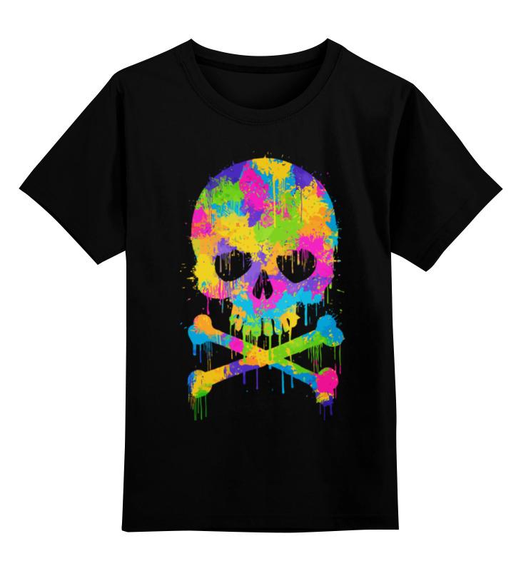 Детская футболка классическая унисекс Printio Череп (skull) цена и фото
